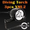 Tonelife Tl3302 3000lumens Diving Canister Light pour Cave Dive avec Aluminum Canister Flashlight avec l'bon homme Handle de Soft