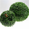 装飾刈り込み法の人工的なプラント葉のBoxwoodの球の塀