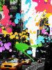 破裂音の抽象的な通りの絵画