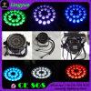 Indicatore luminoso esterno di PARITÀ del quadrato LED della fase di IP65 24X12W RGBW