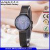 Relógio de senhoras clássico de quartzo da cinta de couro de serviço feito sob encomenda da forma (Wy-062E)