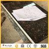 Controsoffitti Polished naturali della cucina del granito del Tan Brown con il taglio del dispersore di Undermount di rettangolo