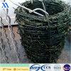 緑のプラスチック上塗を施してある有刺鉄線(XA-BW6)