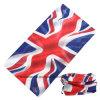 Изготовленный на заказ выдвиженческим головной платок велосипедиста Microfiber многофункциональным Англии Британии полиэфира напечатанный флагом напольный