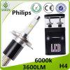 Het hete Verkopen! ! ! H4 de LEIDENE van H/L Philips Koplamp van de Auto 6000K 30W