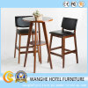 Italian Design Bar Muebles Luxury Black Leather Barstool