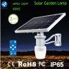 Luz ao ar livre solar do jardim do diodo emissor de luz com os bulbos solares ao ar livre