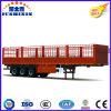 二重か三車軸貨物輸送の側面の棒の完全なトレーラー