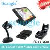 Scangle 15 Todos en un sistema de la posición de la caja registradora de la impresora térmica