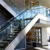 Для использования внутри помещений лестницы U канал Balustrade алюминий стекло поручень