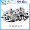 18/10 batterie de cuisine d'acier inoxydable a placé pour l'appareil ménager (BTA-1624)