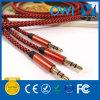 Красная пенька кабель аудиоего от 3.5mm до 3.5mm