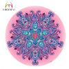 privé Etiket van de Douane Mandala van de Diameter van 140cm het Roze om de CirkelMat van de Yoga