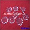 Het Duidelijke Driehoekige Vat van uitstekende kwaliteit van het Bloemblaadje van het Glas van het Kwarts