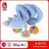 Brinquedos macios enchidos do luxuoso da base de bebê da cor gancho azul por atacado