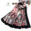 Madame Fashion Scarf avec le châle de soie de satin estampé par château national