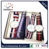 Relógio de quartzo dos relógios do aço inoxidável do relógio de pulso da cinta de couro da forma (DC-336)