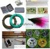 Caixas de moscas e equipamentos de pesca com mosca
