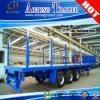 Juyuan Log Timber Wood Transport Semi-reboque Flatbed com Side Bar