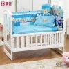 印刷かわいいくまの赤ん坊の寝具セット