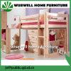 Bâti de couchette Mi-Élevé de dormeur en bois solide avec la mémoire