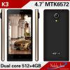 K3 Mtk6572 GSM 이중 SIM는 대기 OEM 전화 이중으로 한다