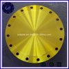 Bride jaune de pipe d'acier du carbone de bride borgne de glissade
