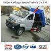 3cbm Sinotruck 휘발유 가솔린 유럽 V 훅 팔 드는 유형 쓰레기 트럭