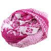 Custom Printed 100% Mulberry Silk Chiffon Crinkle Women Scarf (AMA170609-7)
