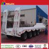 4ejes 90 toneladas de la plataforma de caída de camión de plataforma baja Lowbed semi remolque