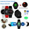Montre-bracelet de téléphone mobile 3G avec le moniteur du rythme cardiaque