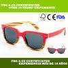 Gafas de sol de madera de múltiples capas de la cebra y del roble (LS2134-C1)