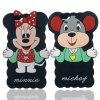 Caja del teléfono del silicón de Mickey Minnie de la historieta para el iPhone 6 accesorios móviles 6plus 7 7plus (XSD-009)