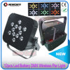 12PCS 10W RGBW 4in1 Battery Party Light