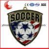 Tecnica placcata e medaglie regionali di calcio della caratteristica dell'Europa