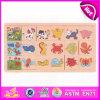 Jouet en bois de puzzle denteux du dessin animé 2015 pour des enfants, jouet en bois de puzzle de jouet préscolaire, puzzle en bois W14c209 d'animaux de jouets bon marché d'enfants