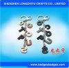 Diamond букв латинского алфавита цепочки ключей с натуральной кожи