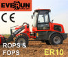 Er10 Everun Mini Farm Front Loader с ножевой головкой Wooden Forks/Drum Folder/