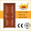 シンプルな設計のベニヤの材木の固体木のドア(SC-W008)
