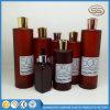 Bottiglia dorata rotonda ambrata dello sciampo della lozione dell'animale domestico della protezione