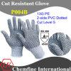 13G PE вязаные рукавицы с 2 стороны ПВХ пунктирной/ EN388: 454 X