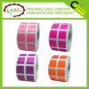 0.5 pulgada cuadrada de papel adhesivo Código de color Etiqueta