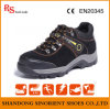 Химически упорные черные кожаный ботинки безопасности RS574 спорта