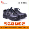 Venda quente couro Calçado de segurança com a convergência de aço RS385
