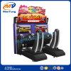 Juegos interactivos del simulador el competir con de coche para el parque de juego