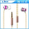 Auriculares atados con alambre del metal de los nuevos productos de China con el bajo estupendo