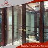 Double porte coulissante en aluminium en verre Tempered avec différentes couleurs