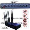 8CH emisión de gran alcance ajustable de la señal de la potencia Cellphone/GPS/4G/WiFi, emisión de la señal del teléfono móvil/molde de la señal