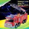 電気水スプレー車の音楽的な消火活動の子供のためのトラックによってダイカストで形造られるスプリンクラーの普通消防車