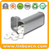 Chicle de menta lata rectangular con bisagras de metal Candy Embalaje
